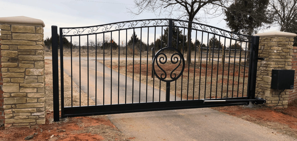 custom driveway gates installation